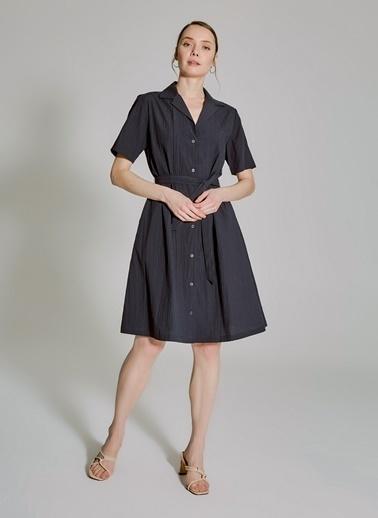 People By Fabrika Gömlek Elbise Lacivert